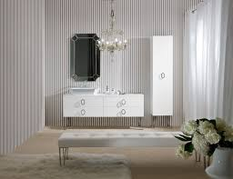 High End Bathroom Vanities by Daphne D15 High End Bathroom Vanity In White Lacquer Wood