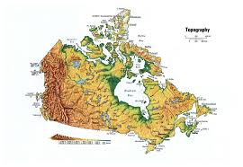 Topographical Map Of South America by Large Topographical Map Of Canada Canada Large Topographical Map