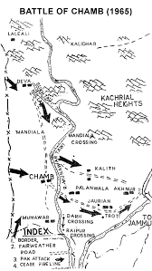 Pathankot India Map by Indo Pak War 1965 Major Actions Indian Defence Review