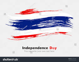 Flag Of Thailand Flag Thailand Flag Grungy Style Independence Stock Vector