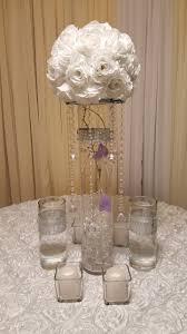 3 vases centerpieces centerpiece cylinder flower ball