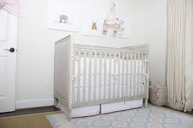 Pink Rug Nursery White Crib With Pink Olio Crib Bedding And Beige And Pink Rug