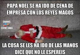 Memes De Santa Claus - pap罍 noel est罍 borracho bajada de reyes笶 pinterest humor