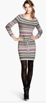 sweater dress and post knit sweater dress black tights black ankle boots