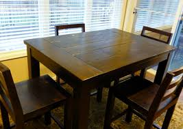 ana white dining room table ana white tryde counter height kitchen table diy projects
