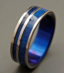 dr who wedding ring blue titanium wedding band b34 by titaniumringsstudio on etsy