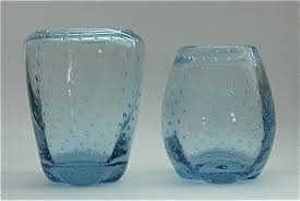Whitefriars Glass Vase Whitefriars Glass Wannabees Blue Bubbles
