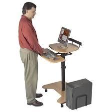Mobile Computer Desks Workstations Best 25 Adjustable Height Computer Desk Ideas On Pinterest