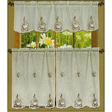 Coffee Themed Kitchen Canisters Coffee Motif Kitchen Drapes Curtains Themed Canisters To Coffee