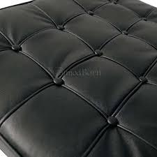 Barcelona Style Sofa Mies Ven Der Rohe Barcelona Style Ottoman Black Leather Replica