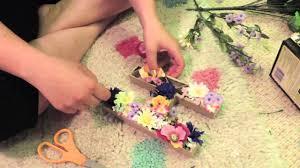 floral letters diy good dorm decoration youtube