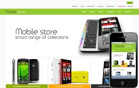 mobile store e commerce shopping cart mobile website template by