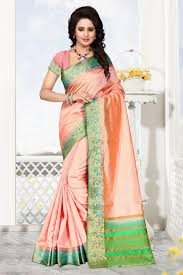 Pink Colour Combination Dresses by Yellow U0026 Red Raw Silk Saree Silk Sarees Saree And Fall Collections