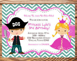 princess and pirate party invitations cimvitation