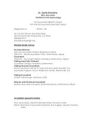 curriculum vitae format sle doctor cv resume format for doctors medical doctor resume sle ob gyn