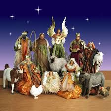 nativity sets size nativity set with resin figurines and plush animals
