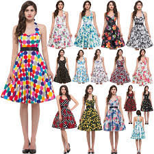 buy retro vintage women cotton summer 50s rockabilly style swing