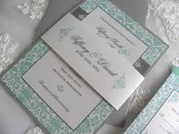 Silver Wedding Invitation Cards Ivory Tiffany Blue Gray Invitation Aqua Tiffany Blue And Pewter