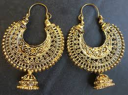 jhumkas earrings vintage antique gold plated ring chand bali indian jhumka earrings