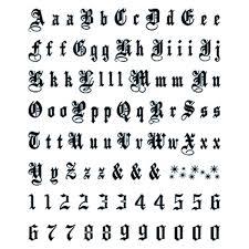 letters u0026 numbers large old english temporary tattoo usimprints