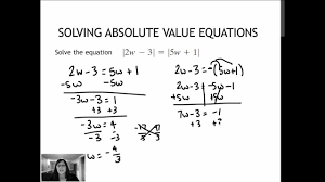 24 2 solving absolute value equations containing two absolute value expressions 1 6
