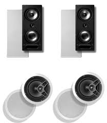 in ceiling home theater system amazon com polk audio 265 rt 3 way in wall speaker pair plus a