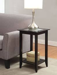 Tall Coffee Table by Amazon Com Convenience Concepts Carmel End Table Black Kitchen
