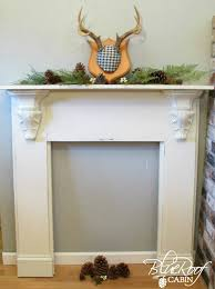 Wood Mantel Shelf Plans by How To Faux Mantel Mantels Decorating And Holidays