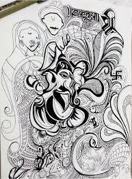 shree ganesha illustration on behance
