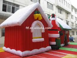Decoration Christmas House Games by Large Inflatable Christmas House With Santa Claus For Christmas