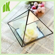 hanging terrarium globe rain drop triange vase candle holder