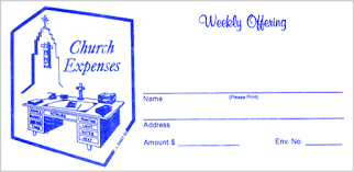 church offering envelopes at fj remey