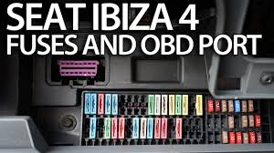 where are fuses and obd2 port in seat ibiza mk4 on board