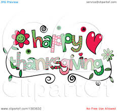 thanksgiving avatars clipart of colorful sketched happy thanksgiving word art royalty