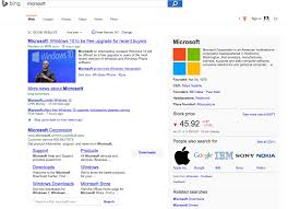 Search Design by Bing Also Testing Google U0027s Search Results Design