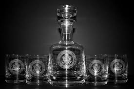 engraved barware engraved decanter w custom logo personalized gifts