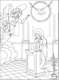 mary and gabriel coloring page omeletta me