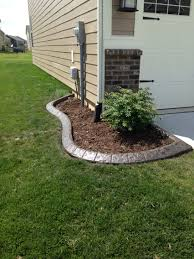 color and stamped concrete edging concrete flower bed border