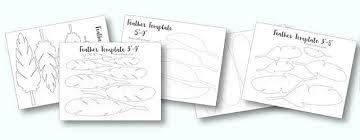 printable turkey feather patterns u0026 templates free live craft eat