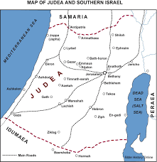 Map Of Israel In Jesus Time Ancient Judea Map Map Of Judea During Jesus Time Israel