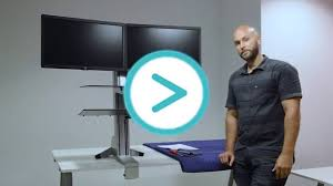 how to set up a sit to stand desk elevate desktop dt3 youtube