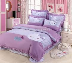 Hello Kitty Duvet Kids Purple Hello Kitty Lace Cotton Home Textile Comforter Bedding