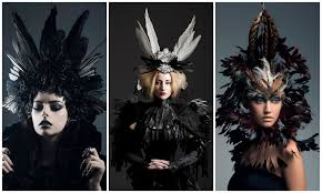 Queen Ravenna Halloween Costume Elegant Gothic Inspired Feather Costumes Feather