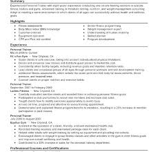 personal trainer resume fitness instructor resume sle fungram co