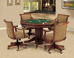 poker game table set modern game table and chairs mid century bridge with four set at