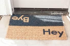 Doormat Leave Diy Door Mat Roundup Sugar Bee Crafts