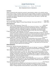 resume 2015 men u0027s basketball director of operations