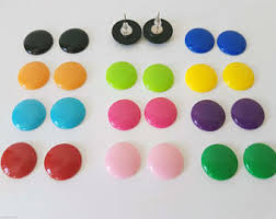 plastic stud earrings plastic stud earring etsy