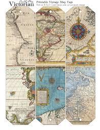 Vintage Map Printable Vintage Map Tags Call Me Victorian