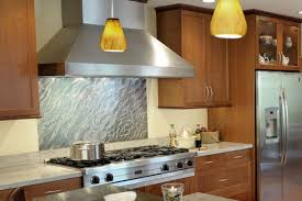 kitchen with stainless steel backsplash stainless steel backsplash kitchen pertaining to panel inspirations